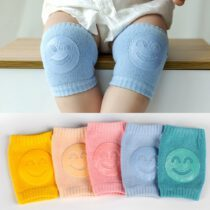Non-slip Baby Knepad Toddler Crawling Toddler Child Safety Accessories Smile Face Knee Pads Boys Girls Foot Pad Protector
